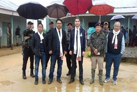 Deputy Commissioner Tamenglong with DLO's at Tamei on 03/07/2018