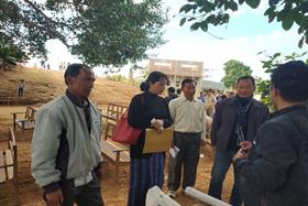 DC Kamjong with social welfare Department officials